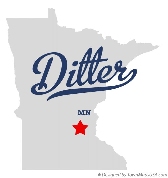 Map of Ditter Minnesota MN