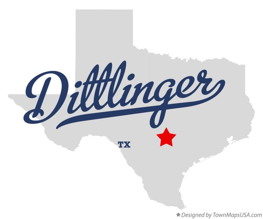 Map of Dittlinger Texas TX