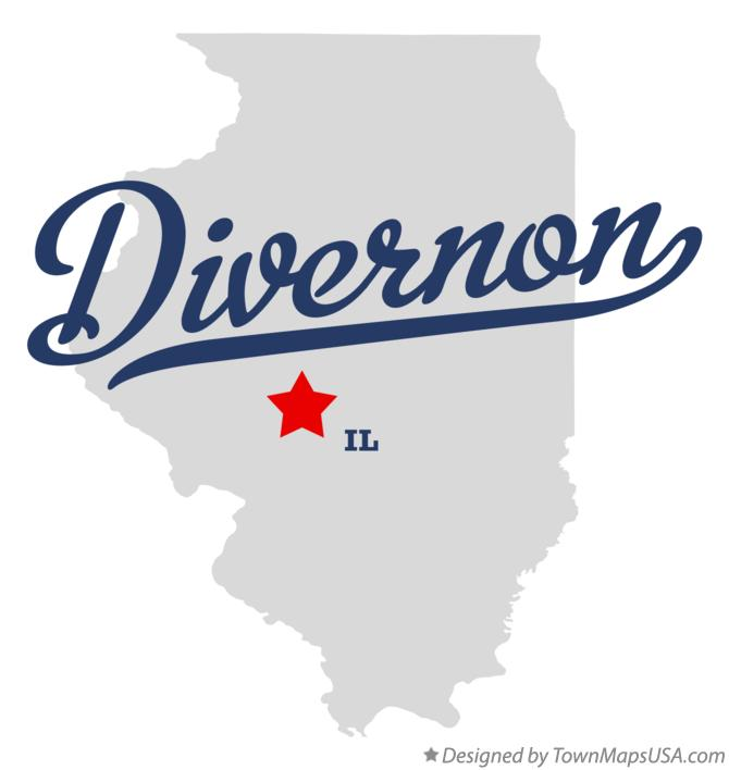 Map of Divernon Illinois IL