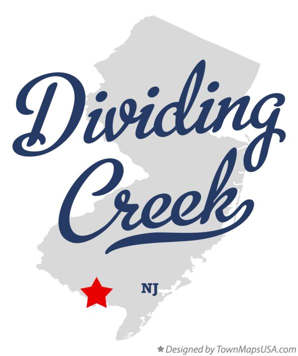 Map of Dividing Creek New Jersey NJ