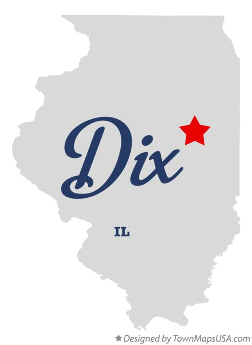 Map of Dix Illinois IL
