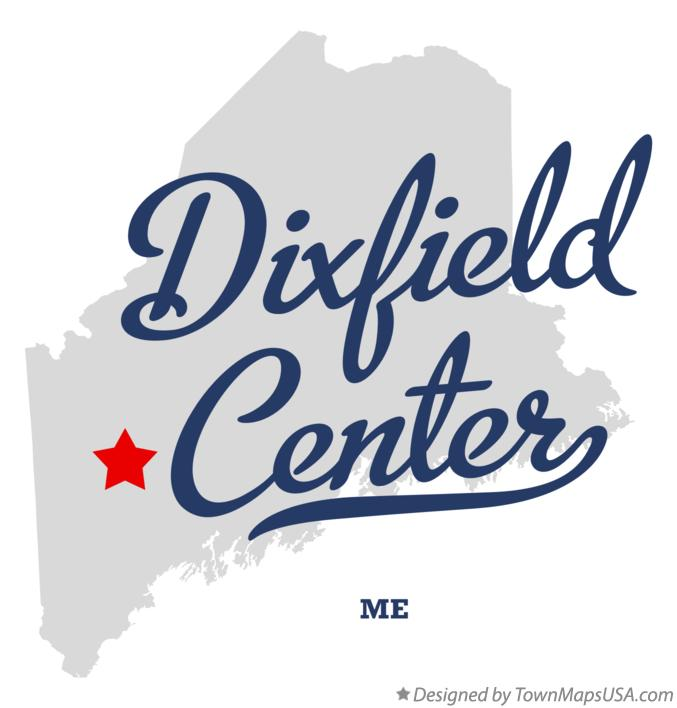 Map of Dixfield Center Maine ME