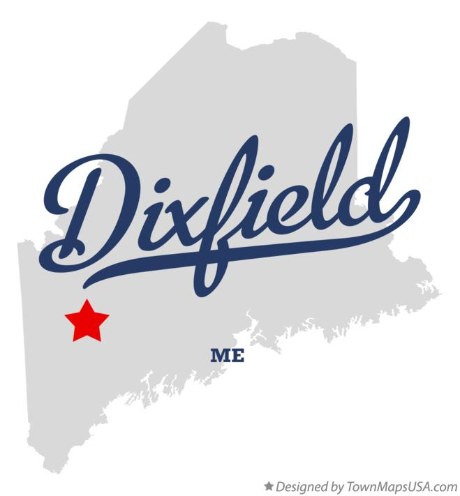 Map of Dixfield Maine ME