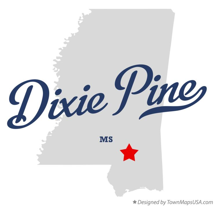 Map of Dixie Pine Mississippi MS