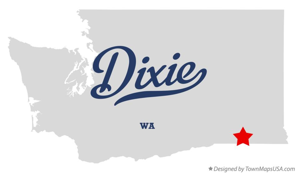 Map of Dixie Washington WA