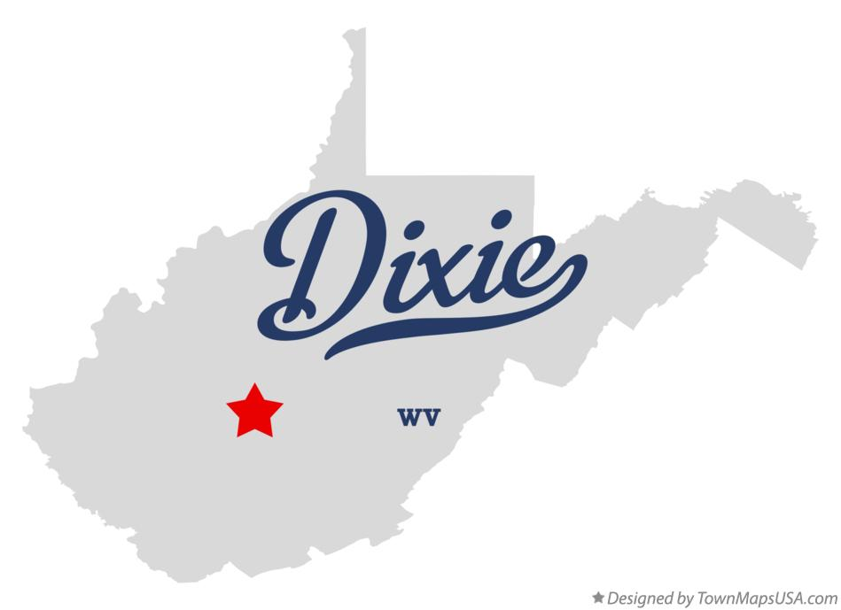 Map of Dixie West Virginia WV