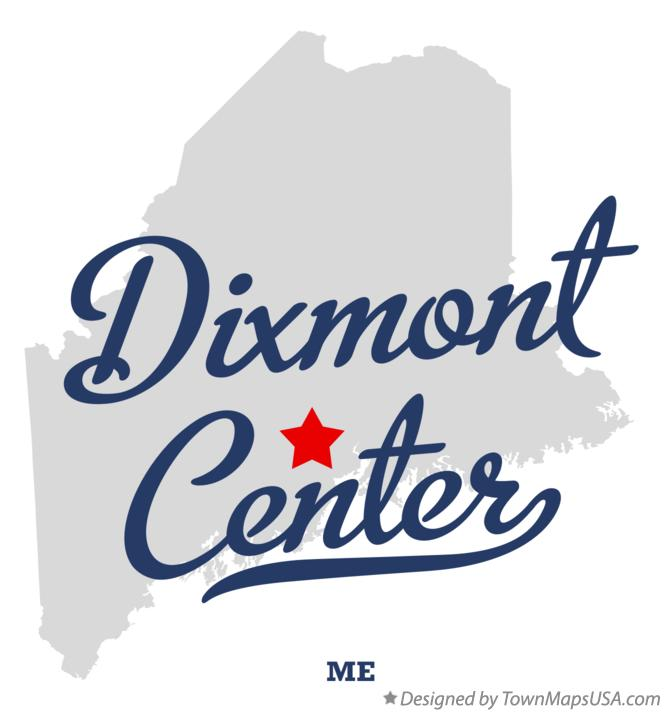 Map of Dixmont Center Maine ME