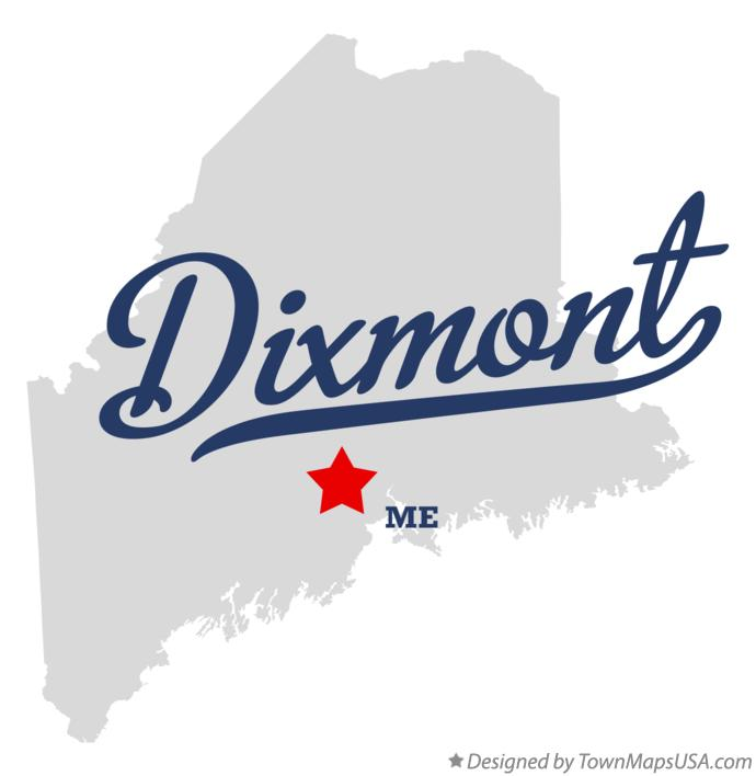 Map of Dixmont Maine ME