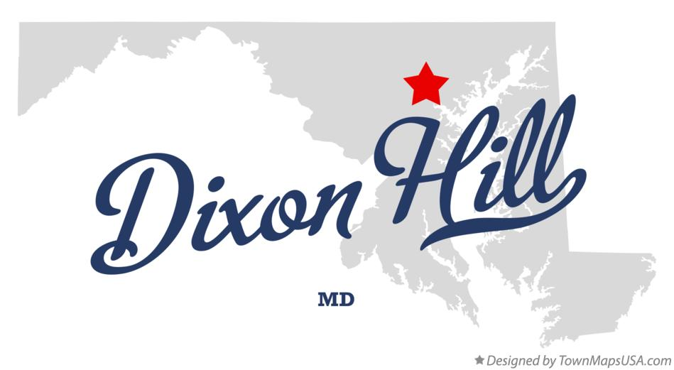 Map of Dixon Hill Maryland MD