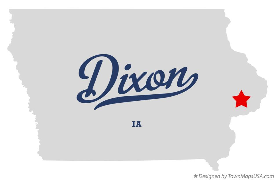 Map of Dixon Iowa IA