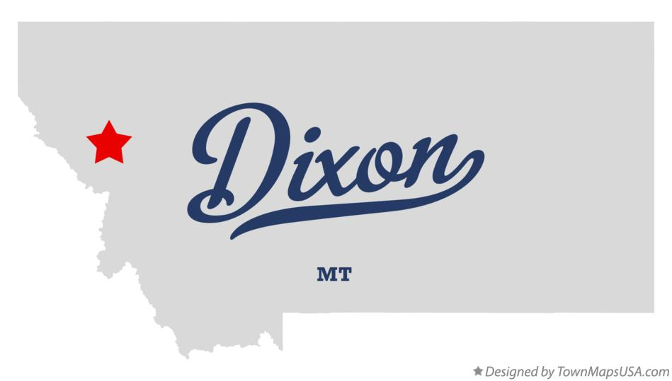 Map of Dixon Montana MT