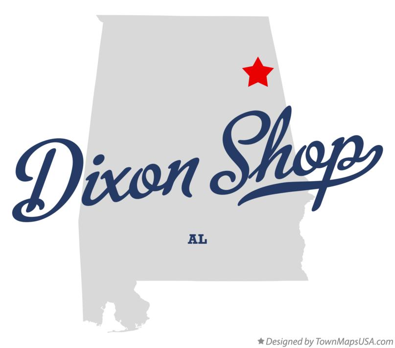 Map of Dixon Shop Alabama AL