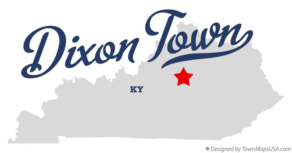 Map of Dixon Town Kentucky KY