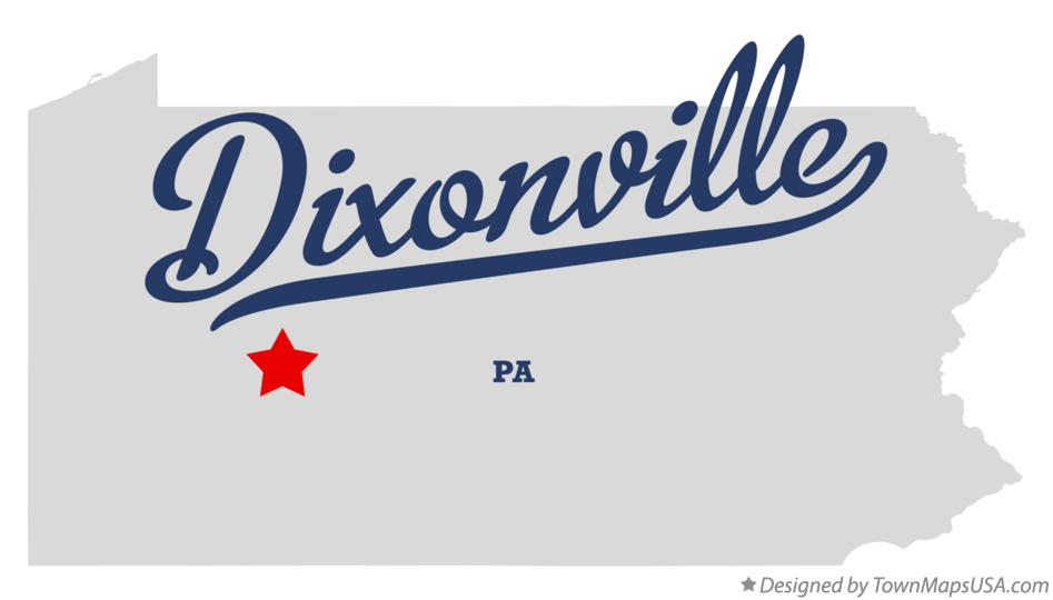 Map of Dixonville Pennsylvania PA