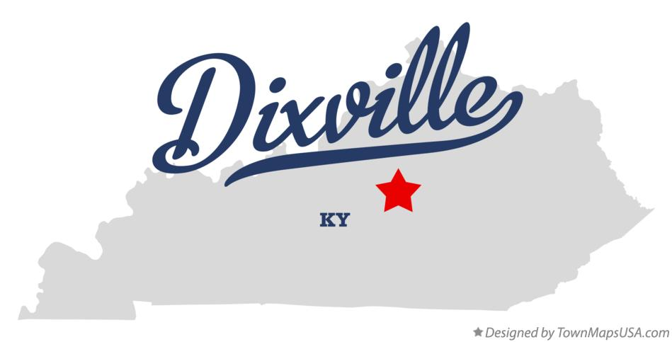 Map of Dixville Kentucky KY