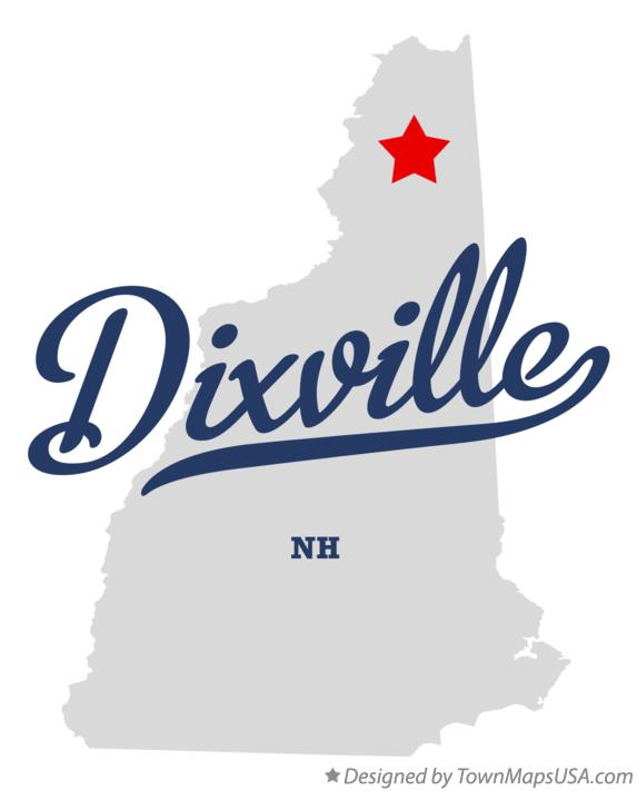 Map of Dixville New Hampshire NH