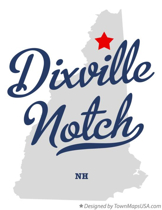 Map of Dixville Notch New Hampshire NH