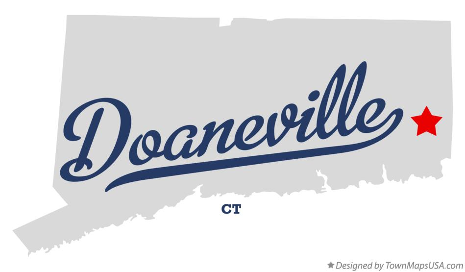 Map of Doaneville Connecticut CT