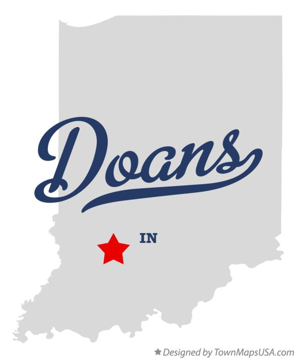 Map of Doans Indiana IN