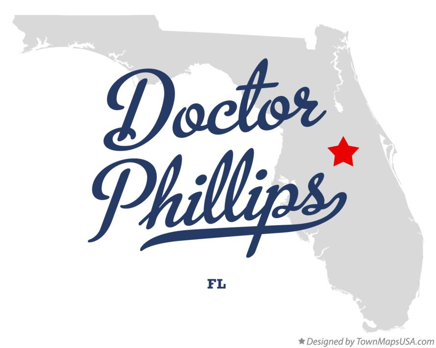 Map of Doctor Phillips Florida FL