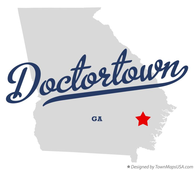 Map of Doctortown Georgia GA