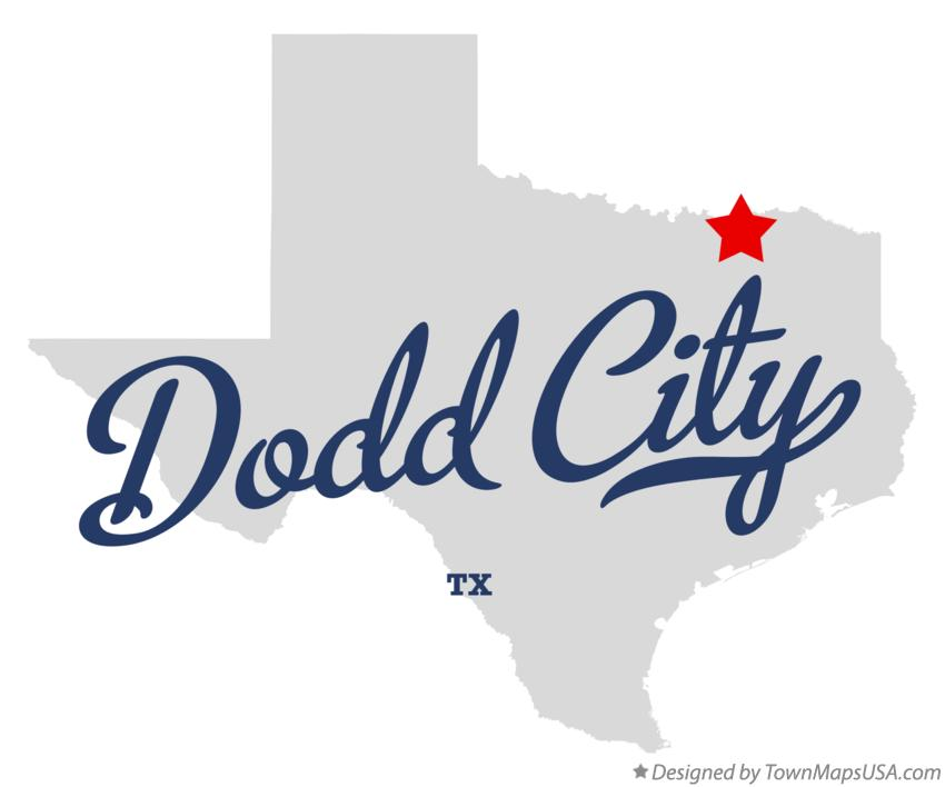 Map of Dodd City Texas TX