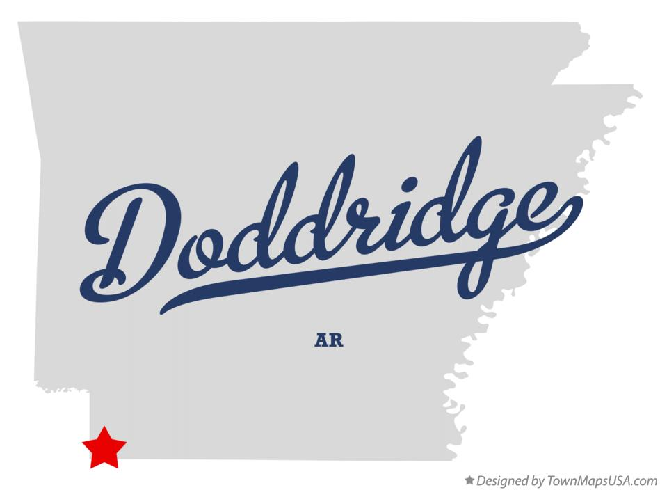 Map of Doddridge Arkansas AR