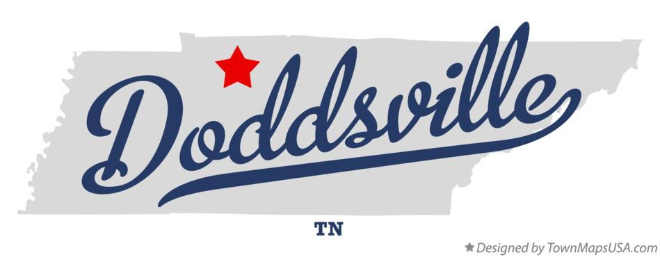 Map of Doddsville Tennessee TN