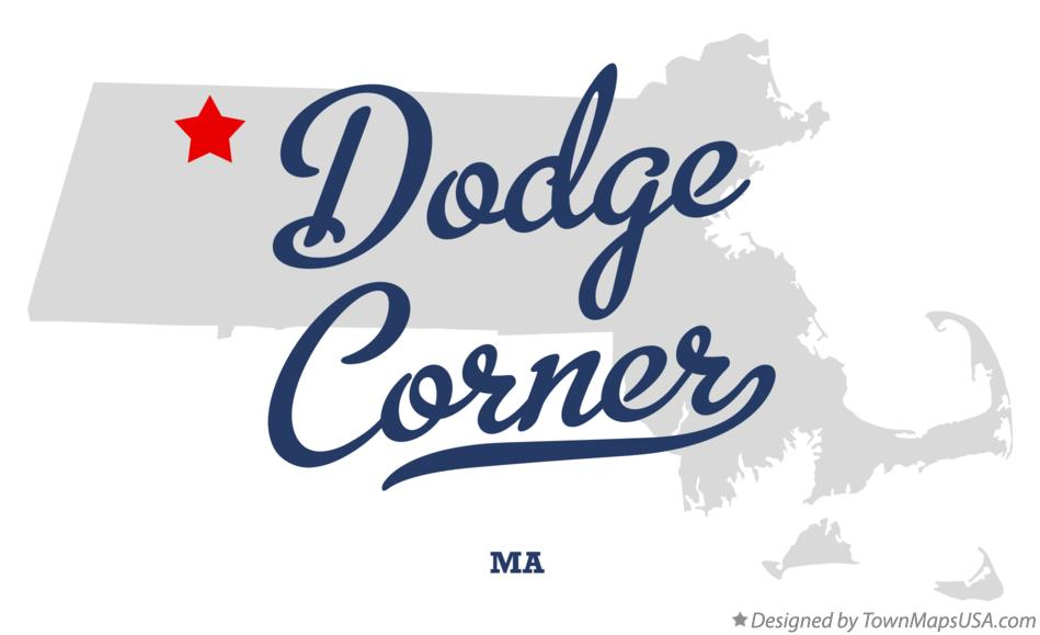 Map of Dodge Corner Massachusetts MA