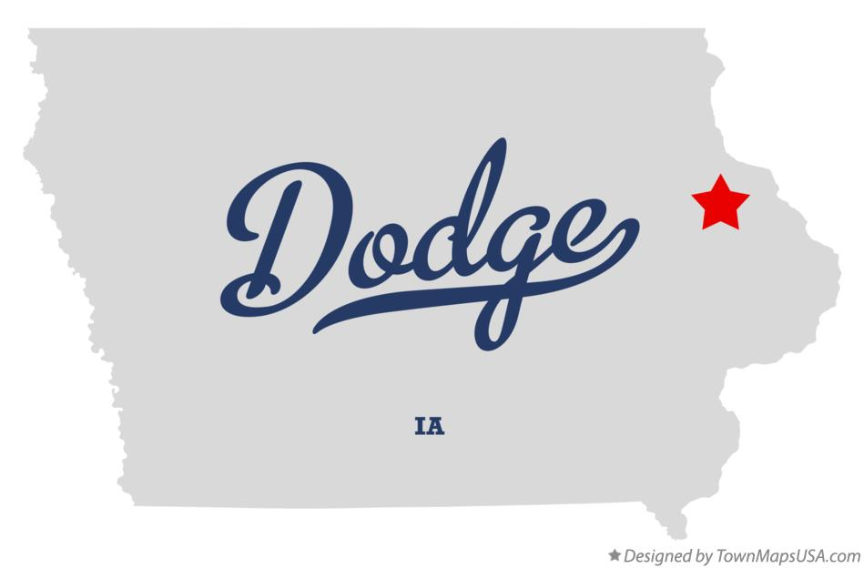 Map of Dodge Iowa IA
