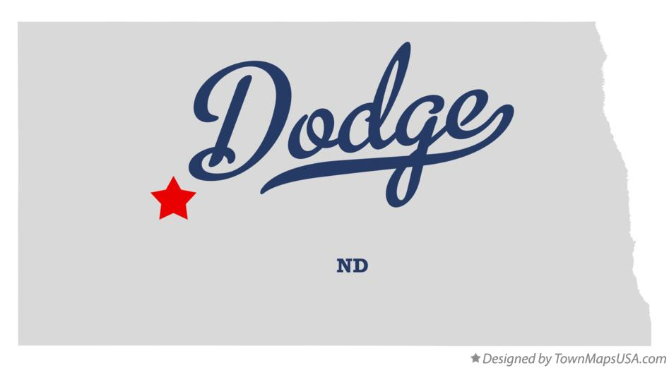 Map of Dodge North Dakota ND