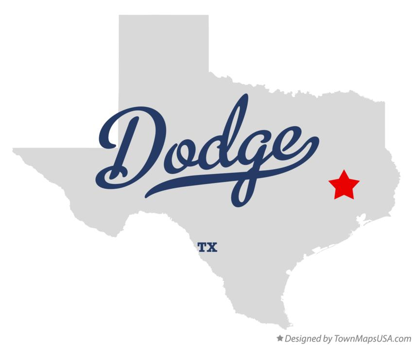 Map of Dodge Texas TX