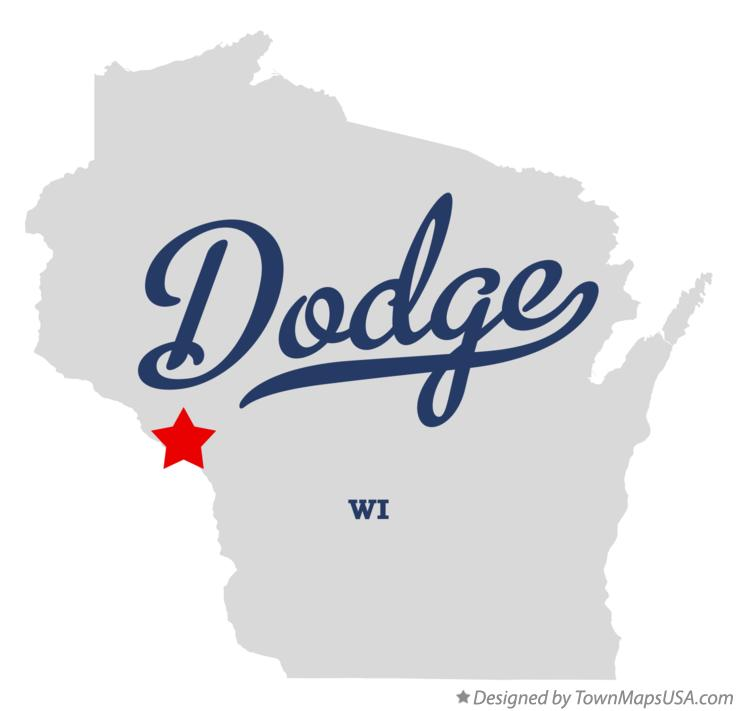 Map of Dodge Wisconsin WI