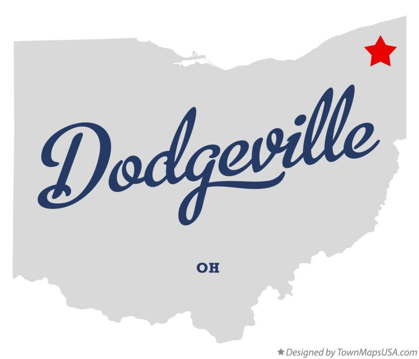 Map of Dodgeville Ohio OH