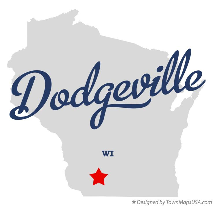 Map of Dodgeville Wisconsin WI