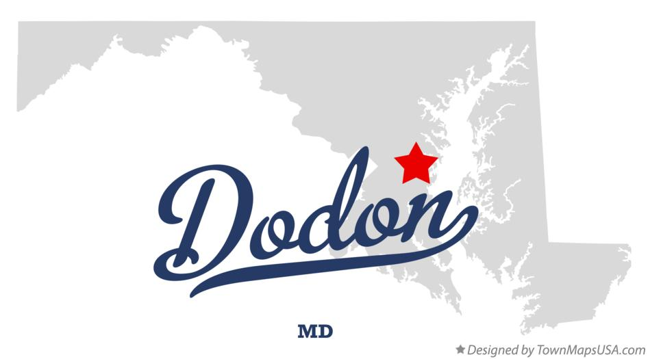Map of Dodon Maryland MD
