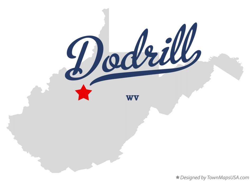 Map of Dodrill West Virginia WV
