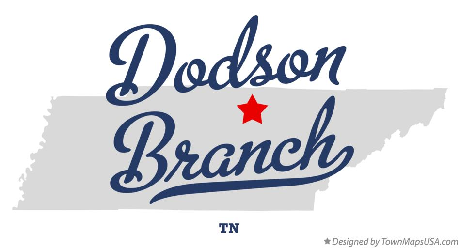 Map of Dodson Branch Tennessee TN