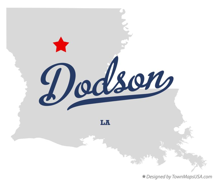Map of Dodson Louisiana LA
