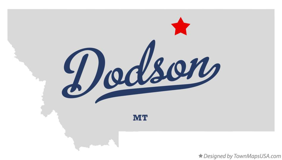Map of Dodson Montana MT