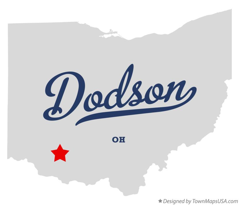 Map of Dodson Ohio OH