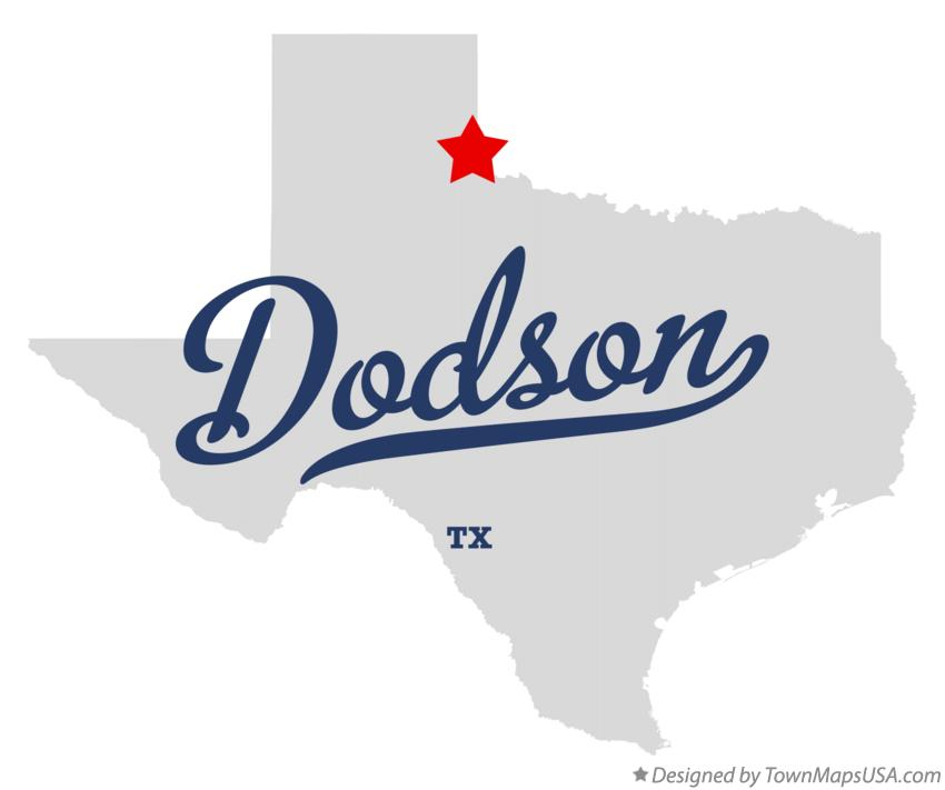 Map of Dodson Texas TX