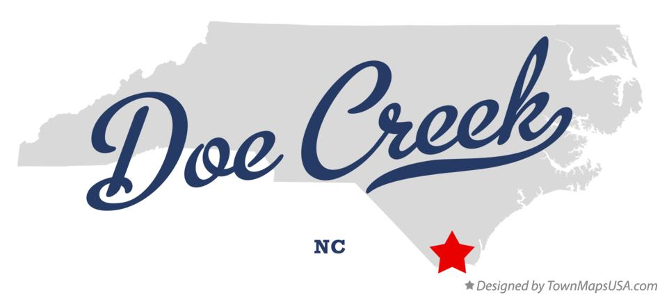 Map of Doe Creek North Carolina NC