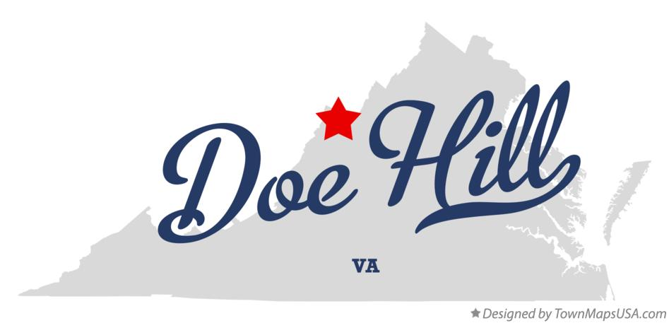 Map of Doe Hill Virginia VA