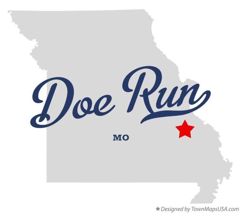 Map of Doe Run Missouri MO