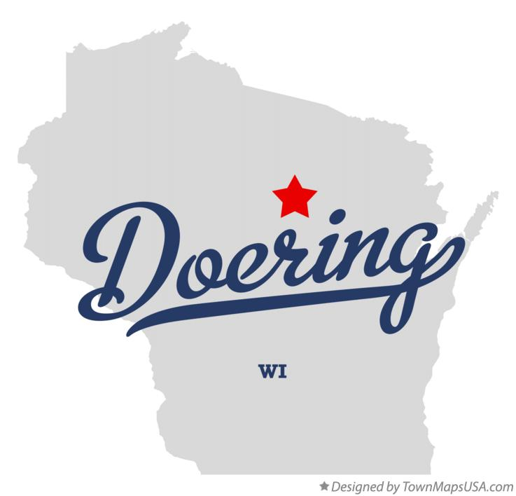Map of Doering Wisconsin WI
