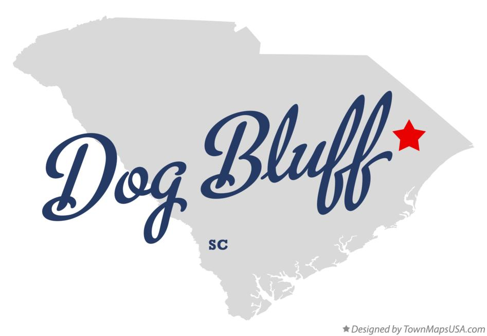 Map of Dog Bluff South Carolina SC
