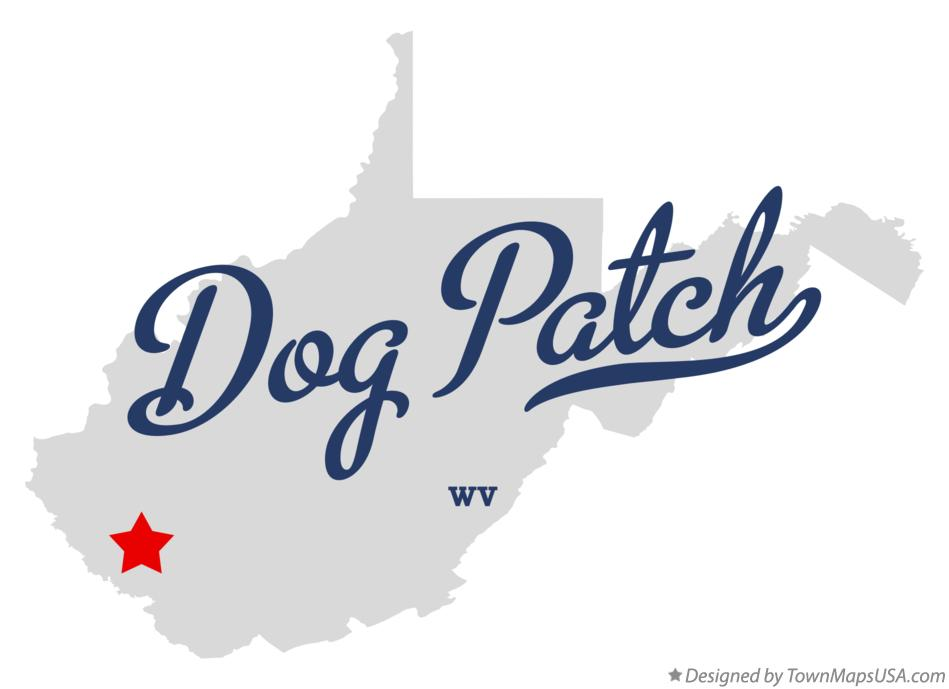 Map of Dog Patch West Virginia WV