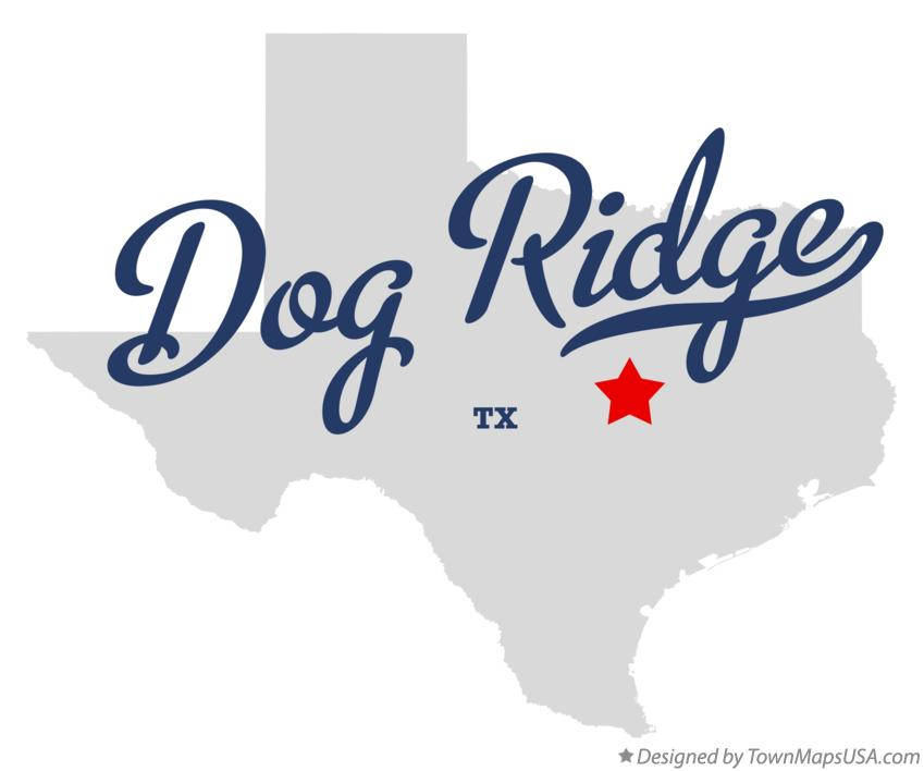 Map of Dog Ridge Texas TX