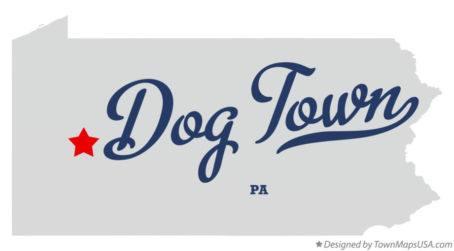 Map of Dog Town Pennsylvania PA